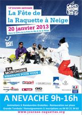 Fête de la raquette à Névache le 20 janvier 2013