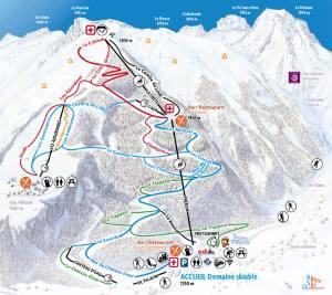 Plan des pistes Pelvoux Vallouise