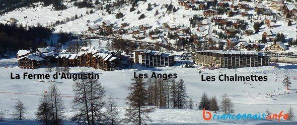 résidences montgenevre skis au pied