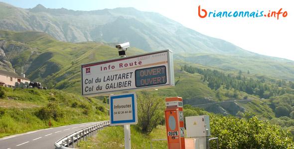 webcams routes du Brianconnais