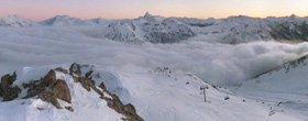 le ski en hiver
