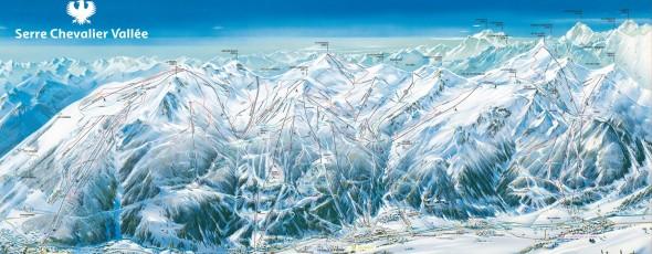 Plan des pistes Serre Chevalier 2015 - 2016