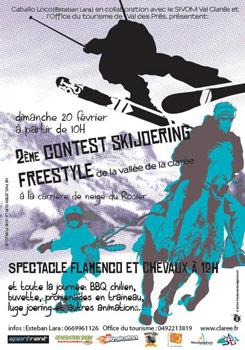 2ème contest ski-joering val-des-prés 2011