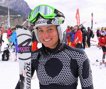 Mélanie Dalmasso championne de france minimes slalom
