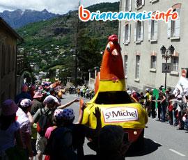 Photos de la caravane publicitaire à Briançon