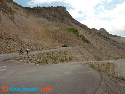 dernier kilomètre de la montée du Galibier