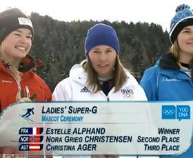 """Estelle Alphand, championne olympique """"jeunes"""" en Super-G !"""