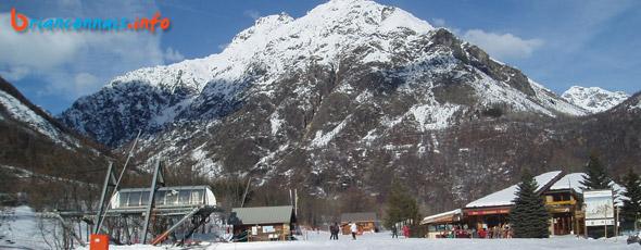 Le front de neige à Pelvoux