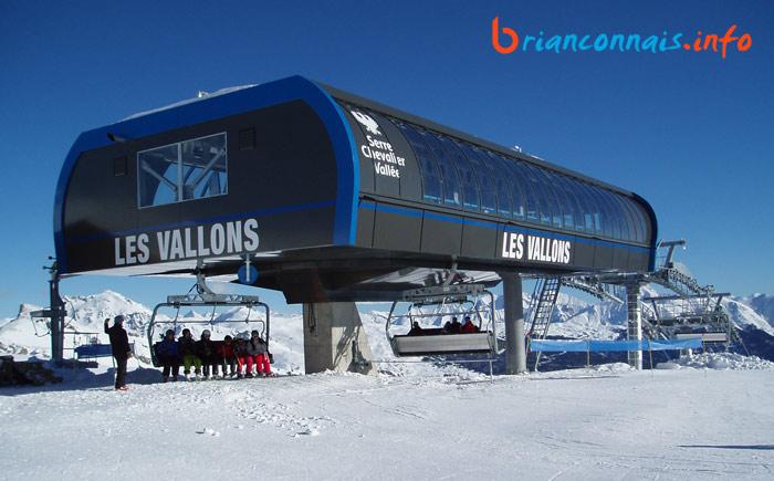 gare d'arrivée du télésiège des Vallons