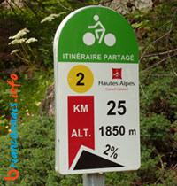 itinéraire partagé hautes alpes en vélo