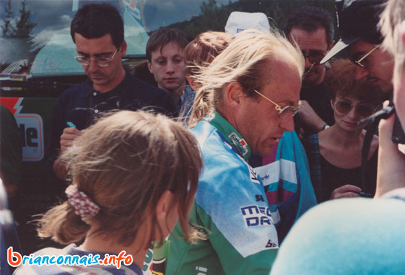 Laurent Fignon à Serre Chevalier sur le tour de France 1993