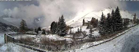 webcam col du lautaret 28 octobre 2012