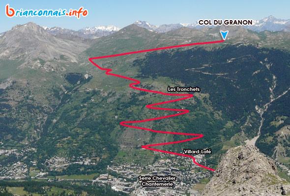 Montée Col du Granon en vélo depuis Serre Chevalier