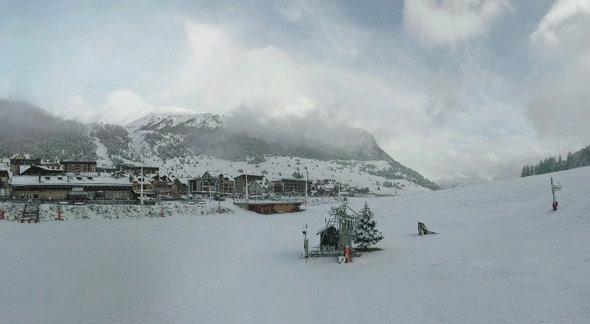 neige à montgenèvre le 5 décembre 2011