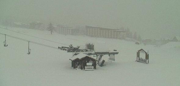 montgenevre 28 octobre 2012 front de neige