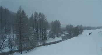 neige à névache le 1er février 2013