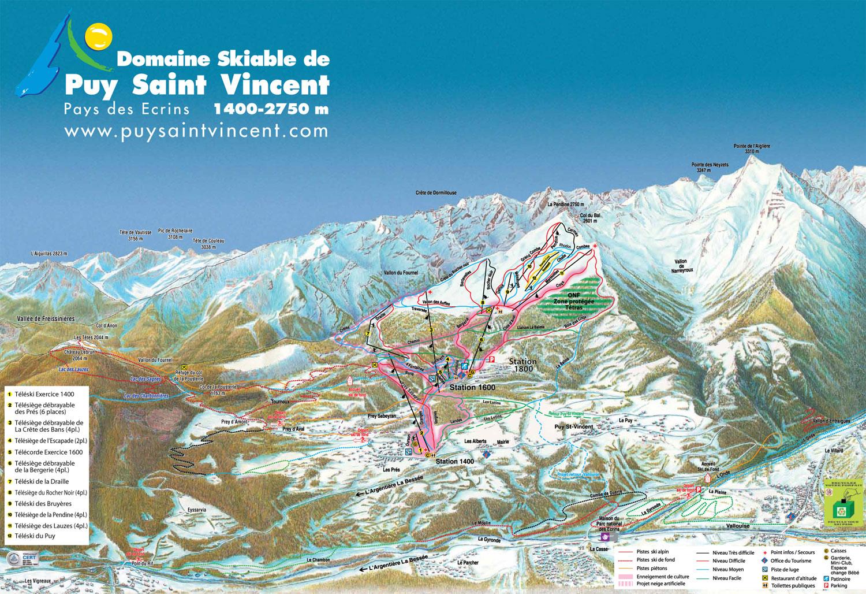 plan pistes puy saint vincent 2011 2012