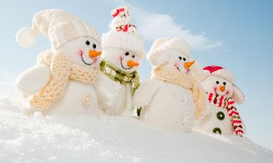 Le Père Noel a livré la neige !