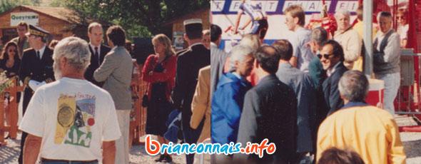 Le Prince Albert et Michel Platini à Serre Chevalier