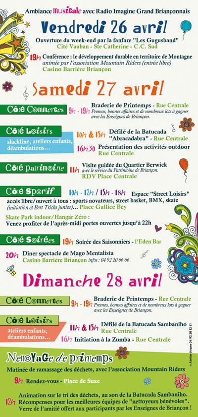 programme briansonne le printemps 2013