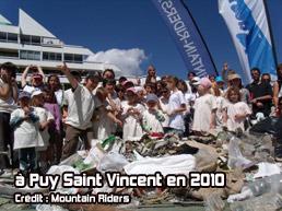 Ramassage des déchets à Puy Saint Vincent en 2010