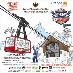rock on snowboard tour serre chevalier 2010