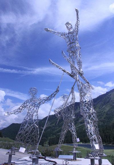 sculpture envol tremplin montgenevre