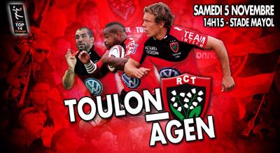 Serre Chevalier Vallée partenaire du match Toulon - Agen