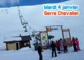 ski serre chevalier 4 janvier 2011