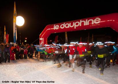 snow trail écrins à pelvoux en décembre 2011