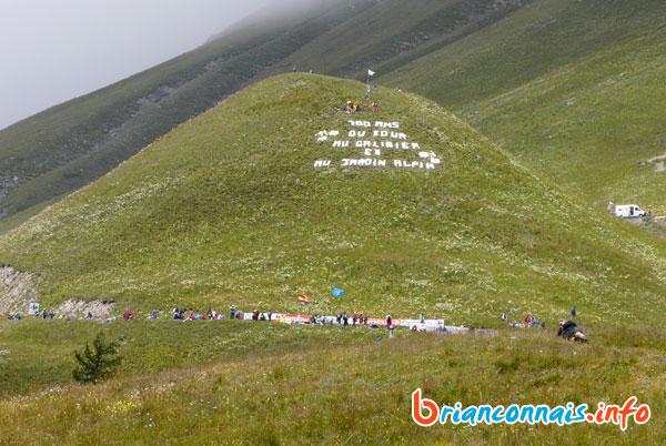 Message géant du Jardin Alpin