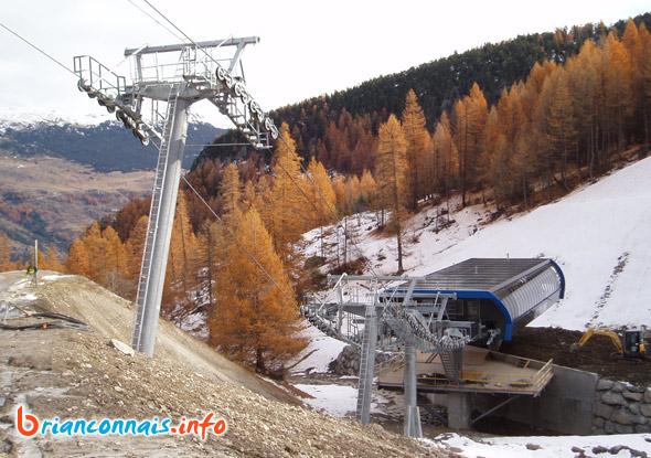 construction gare télésiège des vallons