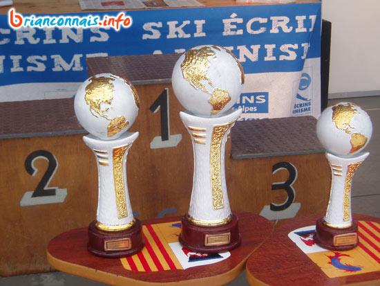 les trophées de la Coupe du Monde