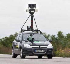 voiture google sur les routes de France