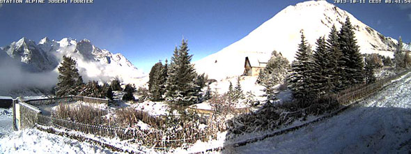 webcam col du lautaret 11 octobre 2013