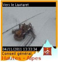 webcam col lautaret 4 novembre 2011