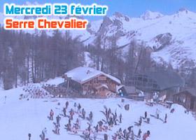 webcam serre chevalier 23 février 2011