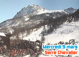 webcam serre chevalier 9 mars 2011