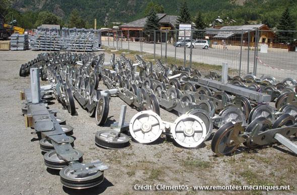 chantier télésiège préron 26 juillet 2012